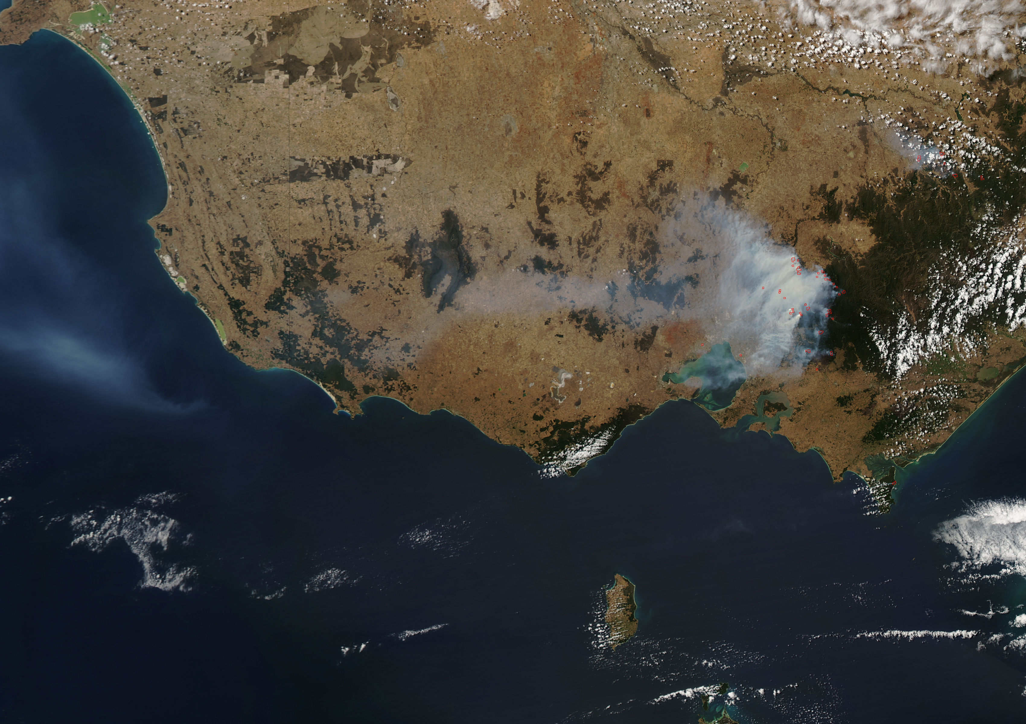 Map of Australia Bushfires