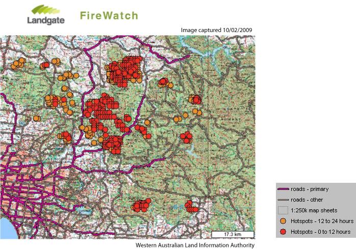 Australia 250k Map.Map Of Australia Bushfires